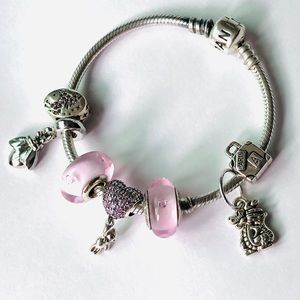 PANDORA bracelet 'teddy  hearts'